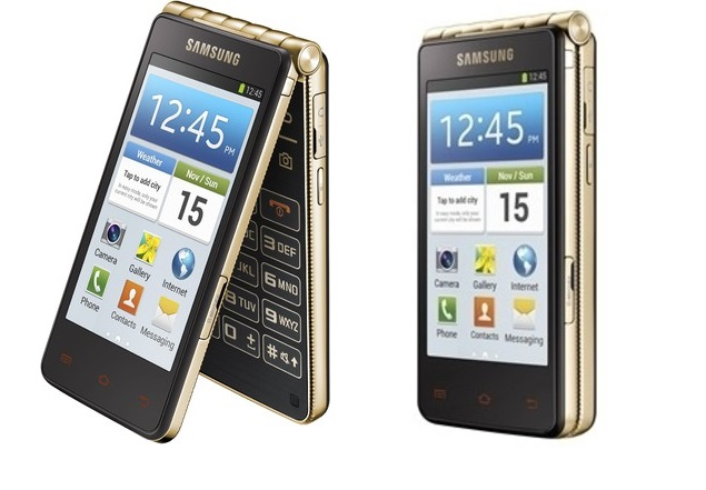 Samsung Galaxy Golden Smartphone With Gold Frame