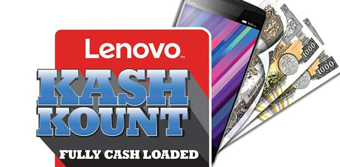 Lenovo brings to you all CashKount Offer