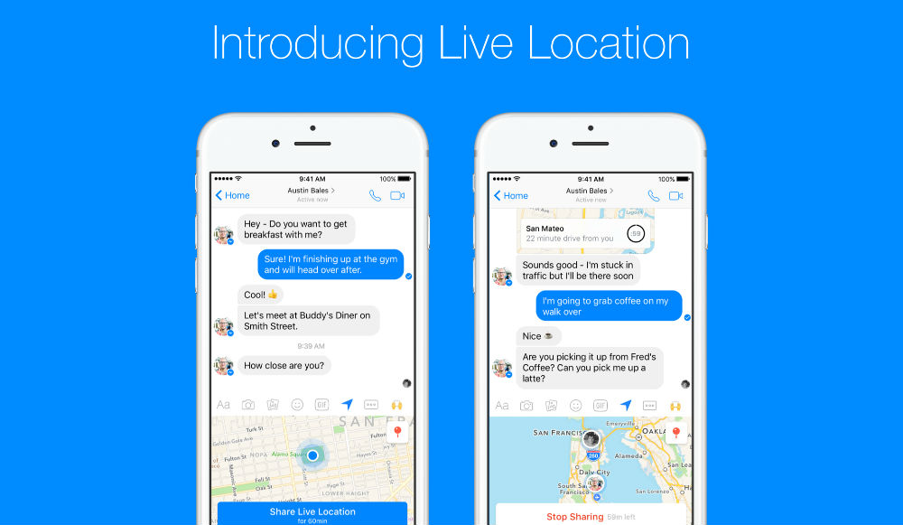 Facebook Messenger Allows You to Geolocate Live
