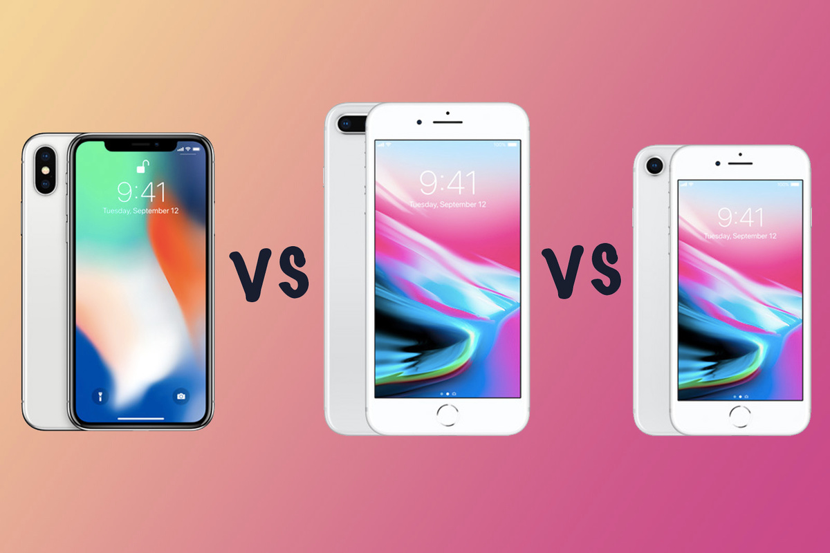 Apple iPhone X vs iPhone 8 Plus vs iPhone 8 What's the difference?